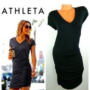 Athleta Topanga Ruched V-Neck Dress